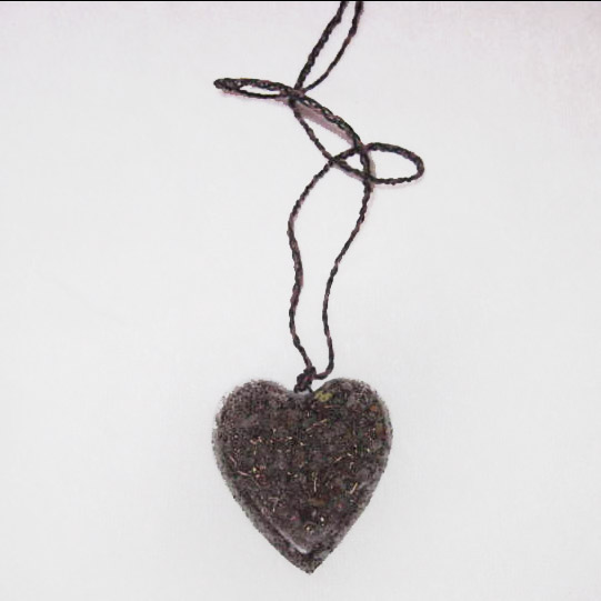 Heart Shape Black Sun Orgone Accumulator